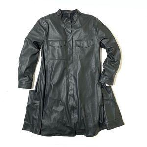 BCBGMaxAzria Emilee Faux Leather T Shirt Dress